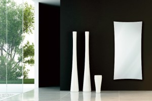 star white glass radiator