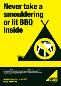 BBQ safety in a tent