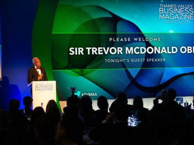 trevor mcdonald at thames valley business awards