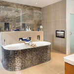 Stylish Bathroom with deep tub