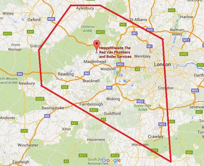 areas that Red Van Plumbers cover