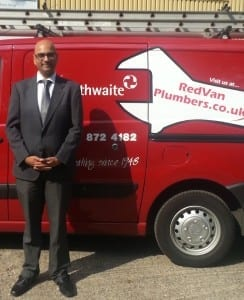 Ash the flying red van plumber heppelthwaite small