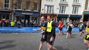 enjoying a marathon