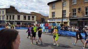 participating in a marathon