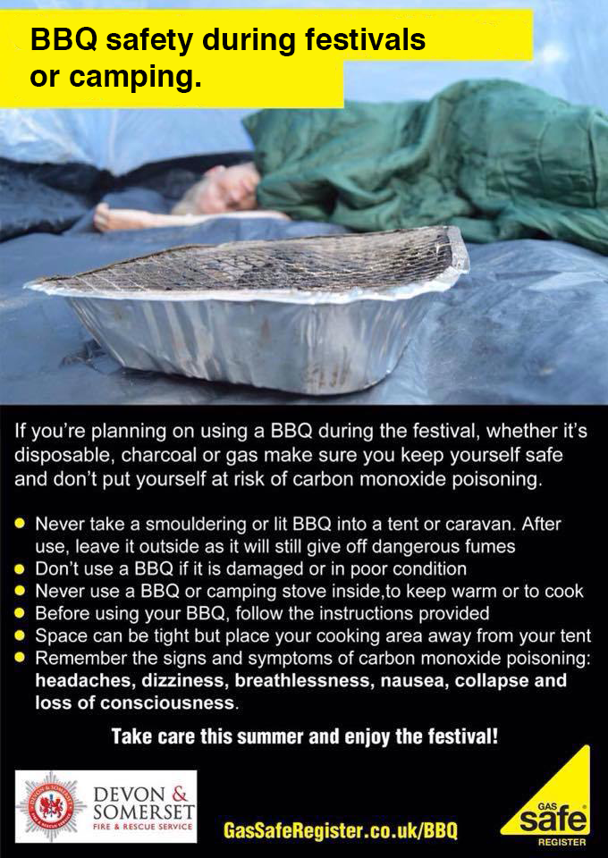 BBQ safety camping