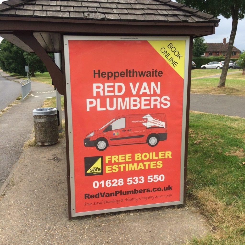 Marlow plumbing and heating poster