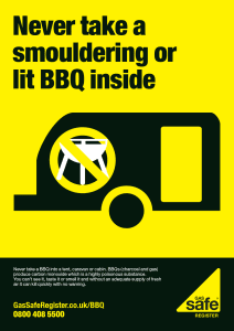 BBQ safety in a caravan