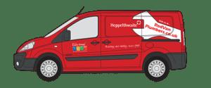 Red Van Plumbers Van