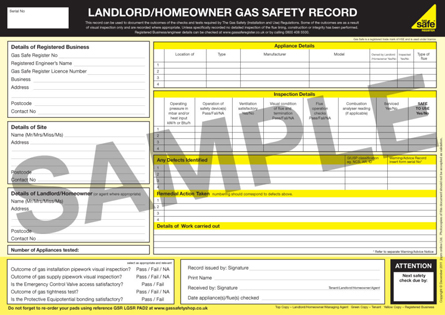 gas safe certificates
