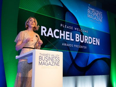 rachel burden at the thames Valley Business Awards